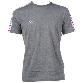 arena Team T-Shirt Men dark grey melange/white/red